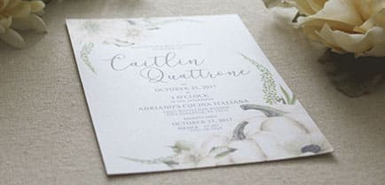 Beautiful wedding stationary.