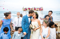 outdoor beach wedding ceremony
