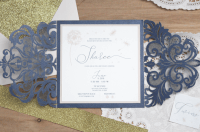 Navy and Blush Baby Shower