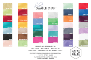 satin swatches