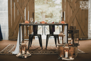 Rustic Farm Wedding Head Table