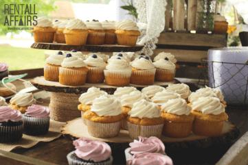 Rustic Dessert Cupcake Bar Setup