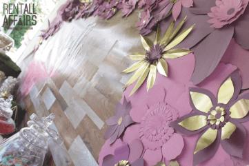 Custom Paper Flower Buffet Backdrop