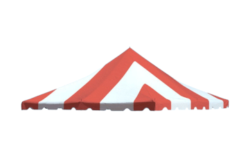 20 x 20 Red Striped Tent Top