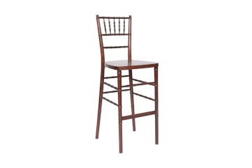 Mahogany chiavari stool chair