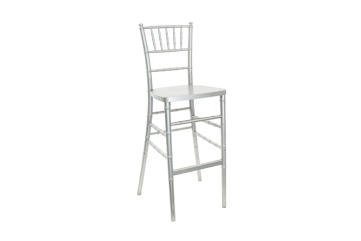 silver chiavari stool chair