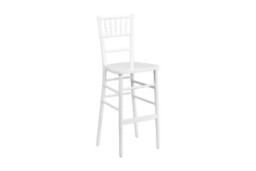 White chiavari stool chair