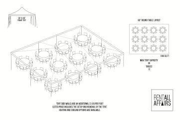30 x 40 tent layout round tables