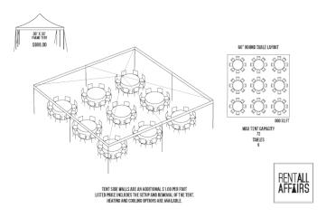30 x 30 round tent