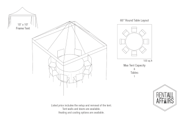 10 x 10 tent with round table layout.png